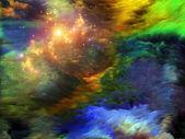 Kleurrijke fractal verf — Stockfoto