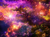 Layers of Fractal Paint — Stockfoto