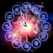 Zodiac clock — Stockfoto