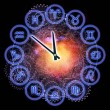 Horoscope clock — Stock fotografie
