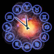Stock Photo: Horoscope clock