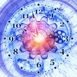 Fractal clock — Stock Photo