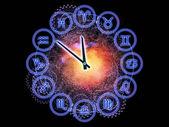 Horoscope clock — Stock Photo
