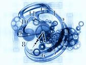 Sfondo astratto orologio — Foto Stock