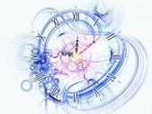 Concetto surreale orologio — Foto Stock
