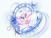 Surreal clock concept — Stock Photo