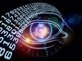 Eye of digital progress — Stock Photo