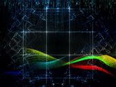 Digital Streams Backdrop — Stock Photo