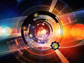 Colorful Digital Processing — Stock Photo