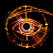 Eye of artificial intelligence — Stock Photo #18988961
