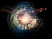 Virtual Numbers — Stock Photo