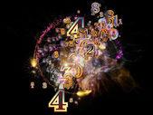 Virtual Numbers — Stock fotografie