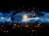 Nebulae of fractal foam — Stock Photo