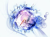 Reloj abstracto fondo — Foto de Stock