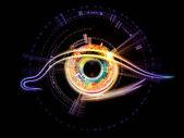 Iris of technology — Stock Photo