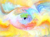 Fraktal färg design — Stockfoto