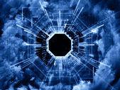 Beyond Virtual Space — Stock Photo