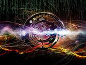 Digitale verwerking abstractie — Stockfoto