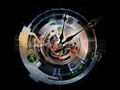 Computing Clockwork — Stock Photo