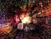 Pano de fundo do espaço virtual — Fotografia Stock