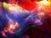Layers of Fractal Paint — Stock Photo