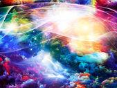 Tinta colorida fractal — Fotografia Stock
