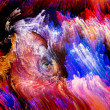 Energy of Digital Paint — Stock Photo
