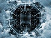 Metaforyczny wirtualnej przestrzeni — Zdjęcie stockowe