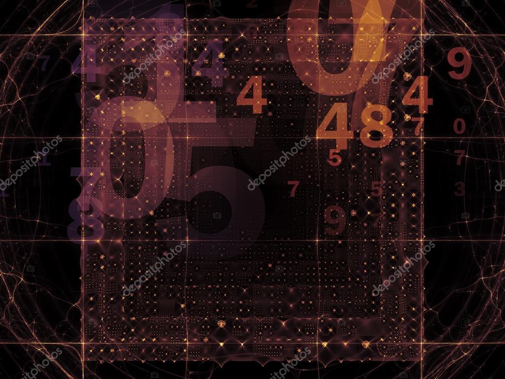 数字和抽象设计元素作为背景适合现代计算, 虚拟现实技术和数字化处理
