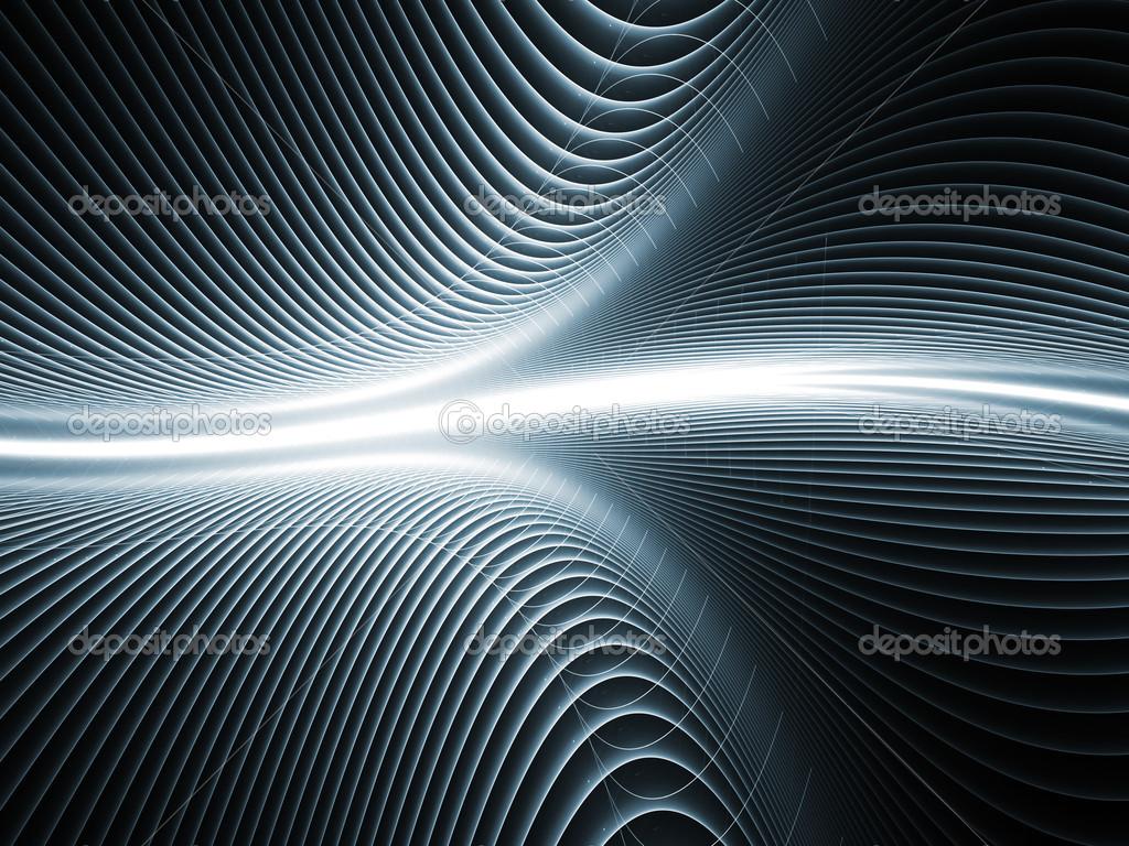 技术, 科幻小说和生物学的主题上的彩色纹理之间的相互作用 — 照片