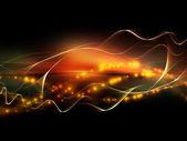 Visualización de ondas fractal — Foto de Stock