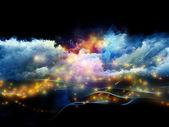 世界上的分形泡沫 — 图库照片