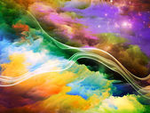 Fractal Paint Background — Foto Stock