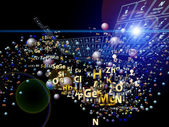Colorful Chemical Elements — Stock Photo