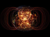 Visualization of Fractal Sphere — Stock Photo