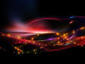 Lichten van fractal golven — Stockfoto