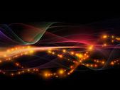 Metaforische fractal golven — Stockfoto