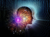 визуализация человека технологии — Стоковое фото
