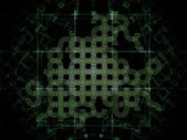 Fractal Grid Abstraction — Stock Photo