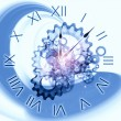 Abstract clock background — Foto Stock