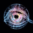 Eye of artificial intelligence - Stock Photo