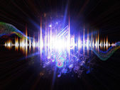 Fluctuations of sound energy — Stock Photo