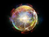 Fractal Sphere Abstraction — Stock Photo