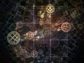 Realms of Fractal Circles — Stock Photo