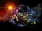 Magic of Chemical Elements — Stock Photo