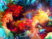 Pintura fresca fractal — Foto de Stock