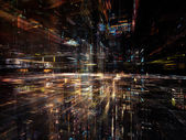 свечение технологии — Стоковое фото