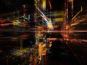 In richtung digitaler technologie — Stockfoto