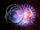 Astrais paradigmas da consciência — Foto Stock