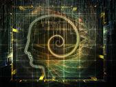In richtung digitales bewusstsein — Stockfoto